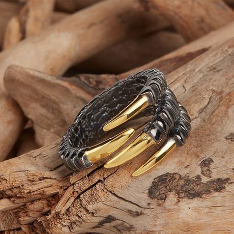 Paw Ring // Black + Gold (10)