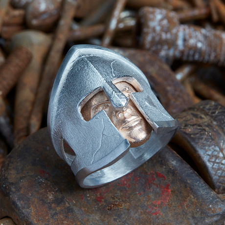 Gladiator Ring V1 // Silver + Gold (10)