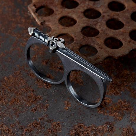 Double Finger Ring V1 // Black (10)