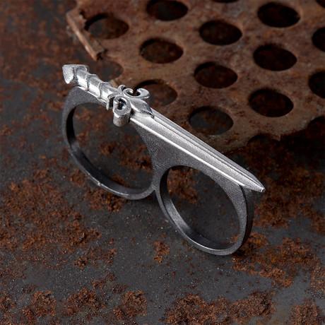 Double Finger Ring V2 // Black (10)