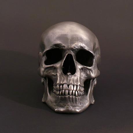 Full Size Human Skull In Stainless Steel