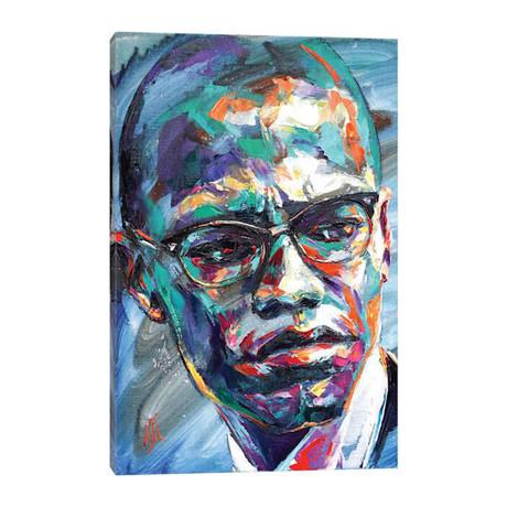 """Malcolm X // Natasha Mylius (12""""W x 18""""H x 0.75""""D)"""