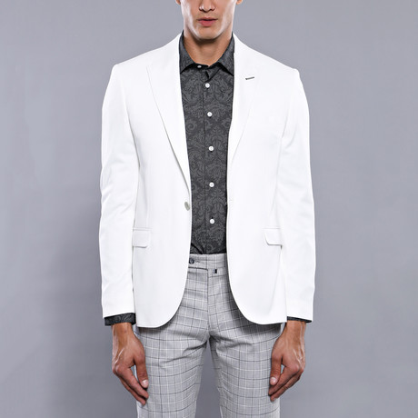 Christian Slim Fit Blazer // White (Euro: 44)