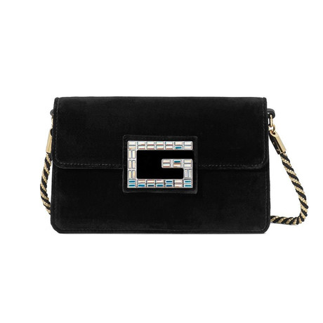 Gucci // Broadway Velvet Shoulder Bag + Jeweled G // Black