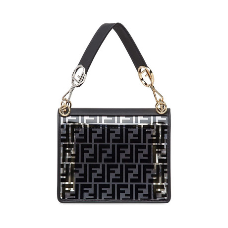 Fendi // Kan I F Medium Shoulder Bag // Black