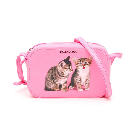 Balenciaga // Kitten Everyday Camera Bag // Acid Pink