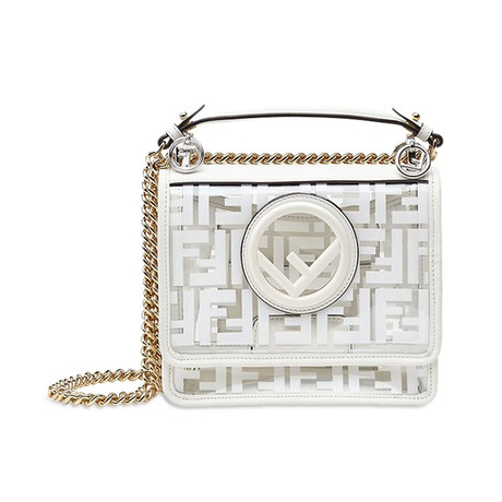 Fendi // Kan I F Small Shoulder Bag // White