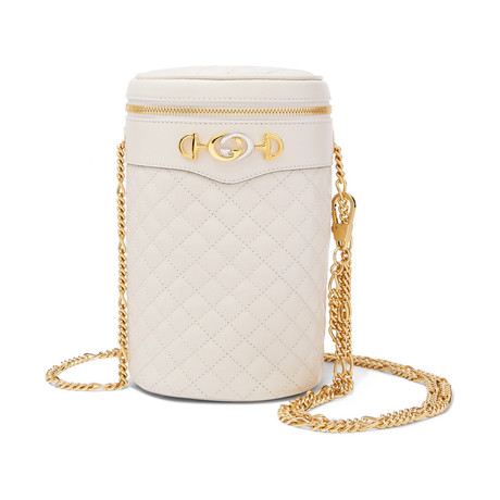 Gucci // Trapuntata Quilted Belt Bag Pouch // White