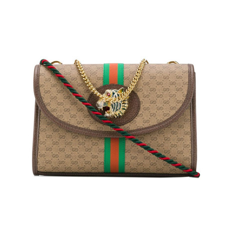 Gucci // Rajah Small Shoulder Bag // Brown + Multicolor