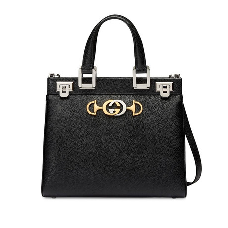 Gucci // Zumi Grainy Leather Small Top Handle Bag // Black