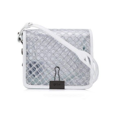 OFF-White // PVC Net Flap Bag // White + Clear
