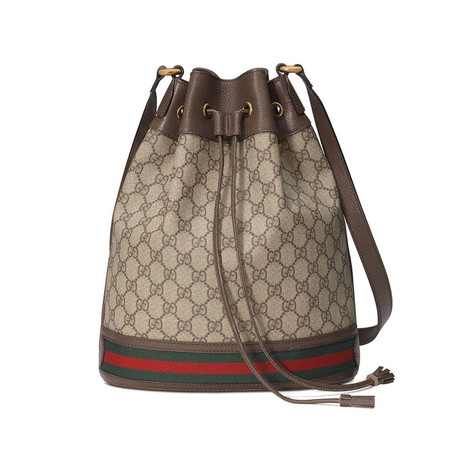 Gucci // Ophidia GG Bucket Bag // Brown + Multicolor