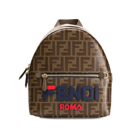 Fendi // Fendimania FF Print Mini Backpack // Brown