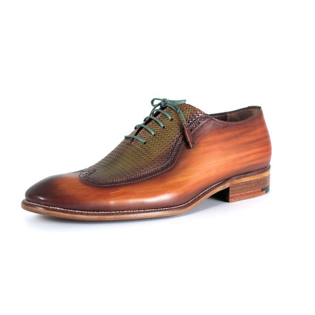 Luigi Dress Shoe // Green + Brown (Euro: 40)