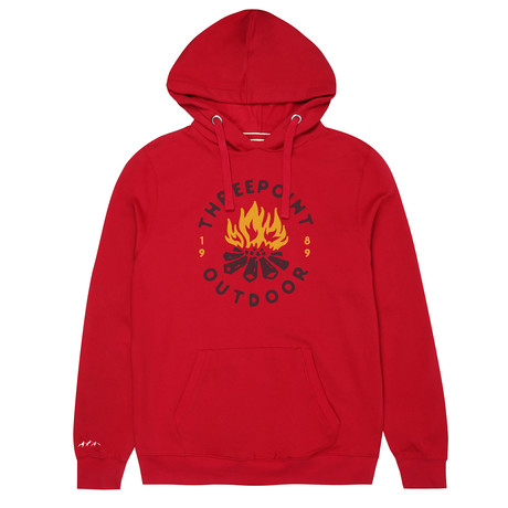 Camp Fire Hoodie // Cranberry (S)