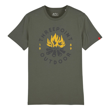 Camp Fire T-Shirt // Khaki (S)