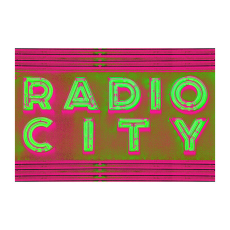 "Radio Radio Neon Remix (16""W x 24""H x 2""D)"