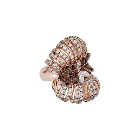 Stefan Hafner 18k Rose Gold Multi-Stone Ring // Ring Size: 7