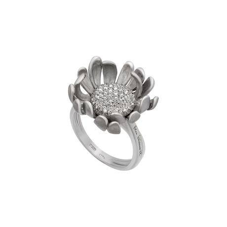 Annamaria Cammilli Prelude 18k White Gold Diamond Ring // Ring Size: 7.75