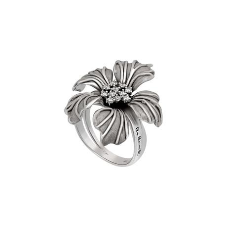Annamaria Cammilli Orchidea 18k White Gold Diamond Ring // Ring Size: 7.25