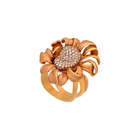 Annamaria Cammilli Mirage 18k Rose Gold Diamond Ring // Ring Size: 7