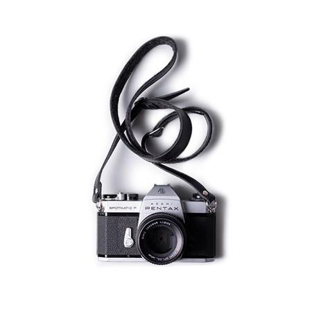 Adjustable Leather + Felt Camera Strap (Black)