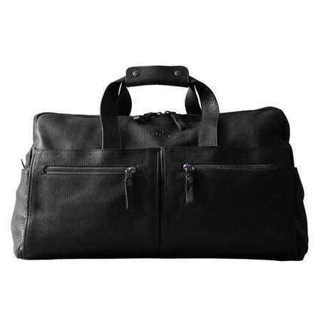 Leather Weekender Bag (Black)