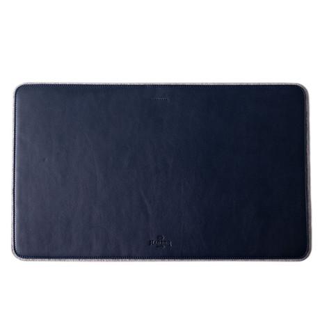 Leather + Felt Desk Mat (Black)