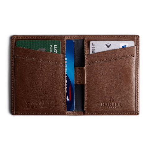 Card Wallet With RFID Protection (Burgundy)