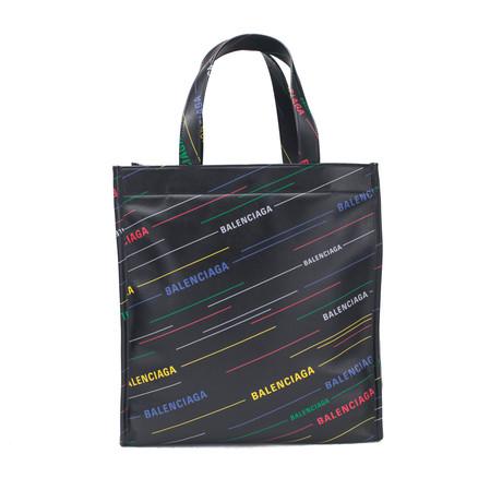 Balenciaga // Calfskin Leather Market Shopper Tote Handbag V2 // Black