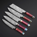 Maroon IIV Kitchen Knives // Set of 5