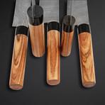 Olive Wood Japanese Style Knives // Set of 5