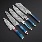 Natural Blue Sushi Knives // Set of 5
