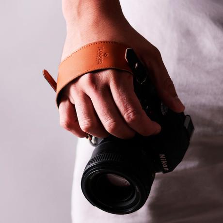 Leather Camera Clutch Strap (Black)