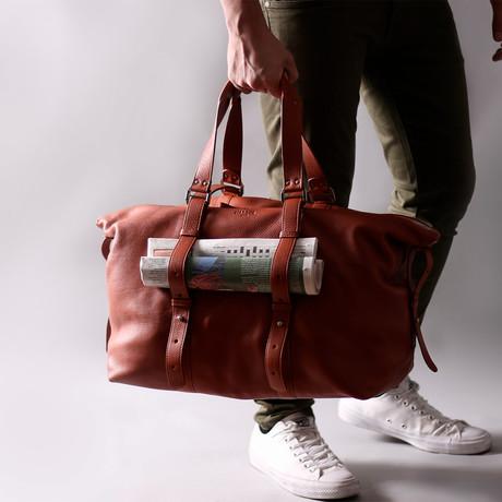 Leather Shopper Bag (Black)