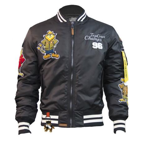 "MA-1 ""Champs"" Bomber Jacket // Black (XS)"