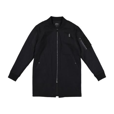 Wool Long Bomber // Black (S)