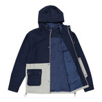 Two-Tone Anorak // Blue + Stone Gray (L)
