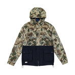 Two-Tone Anorak // Camo + Blue (S)