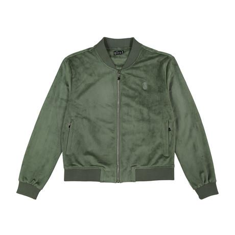 Suede Bomber Jacket // Olive (S)