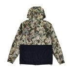 Two-Tone Anorak // Camo + Blue (L)