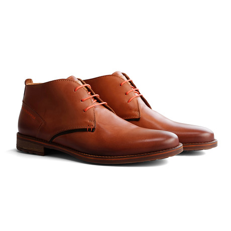 Piano Leather Shoe // Cognac (Euro: 40)