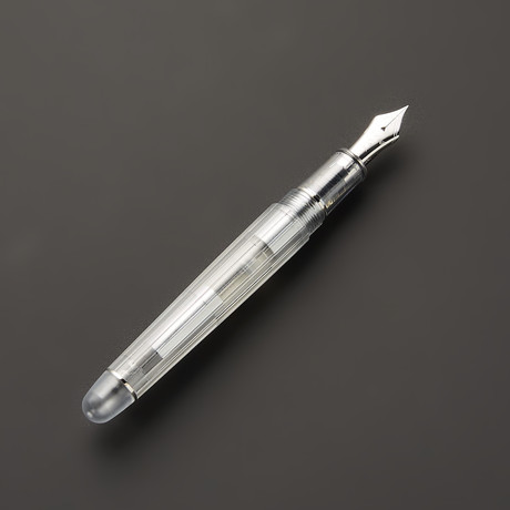 5 Oshino Pen // Transparent Rhodium Nib + Trim (Fine)