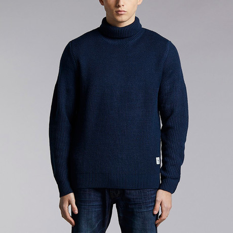 Blanda Roll Neck Sweater // Navy (XS)