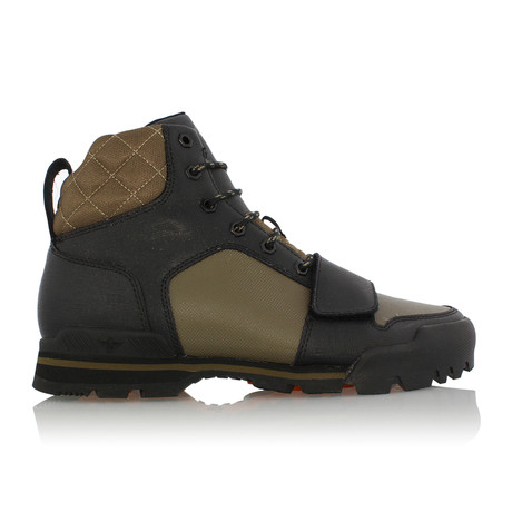 Scotto High Top Sneaker // Olive + Black (US: 7)