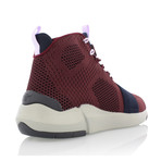Modica High Top Sneaker // Burgundy + Navy (US: 7)