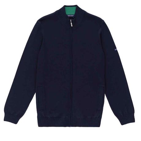 Colorado Comfortable Knit Jacket + Zip // Men's // Dark Blue + Green (S)