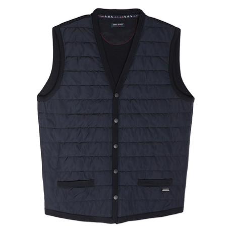 Asker Sleeveless Jacket Duo Fabric // Men's // Dark Blue (S)