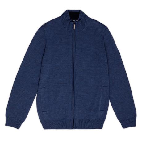 Colorado Comfortable Knit Jacket + Zip // Men's // Jean + Navy (S)