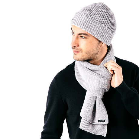 Canot Soft Wool Beanie In Purl Knit // Men's // Gray